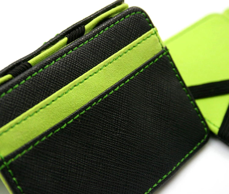 Fanala Unisex Faux Leather Magic Credit Card Id Money Clip Slim Wallet Holder SV003741/_1