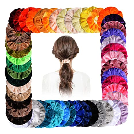 x15 COLOUR THICK HAIR ELASTICS SCHOOL BLUE YELLOW RED PURPLE PINK ACCESSORIES