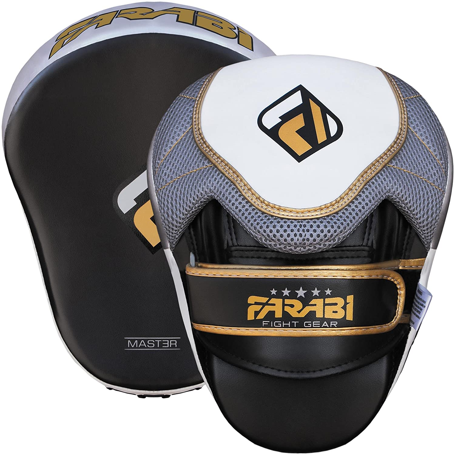 Boxing Training Pads Hook /& Jab Mitts Farabi Curved Focus Pads