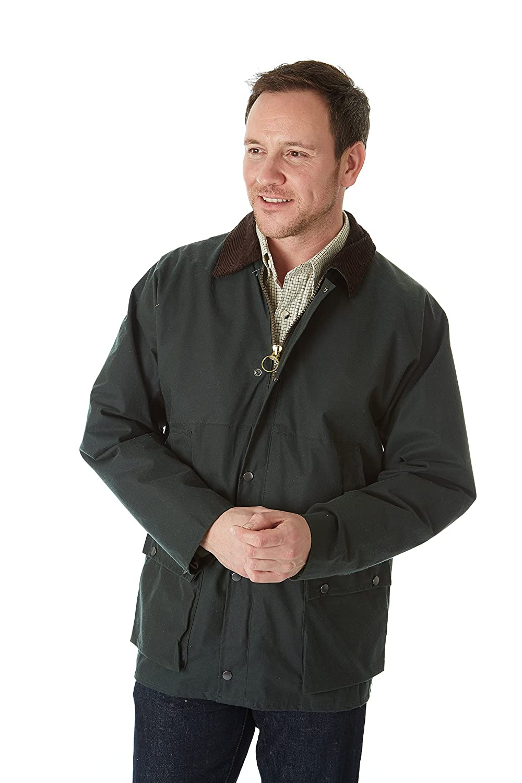 Sherwood Forest Unisex tradicional cera chaqueta más corta longitud Color Verde - Verde Oliva tamaño XS WXM001-PT-OLV-OXS