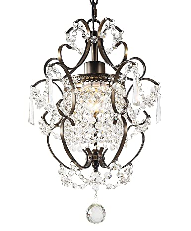 Garwarm Modern Crystals Chandeliers, Small Chandelier Pendant  Lighting,Ceiling Lights Fixtures for Living Room Bedroom Restaurant Porch  Dining ...
