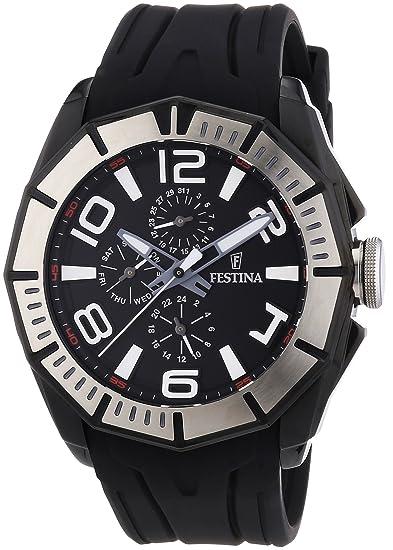 e2eaef98d5d4 Festina F16670 8 - Reloj analógico de Cuarzo para Hombre con Correa de  Caucho