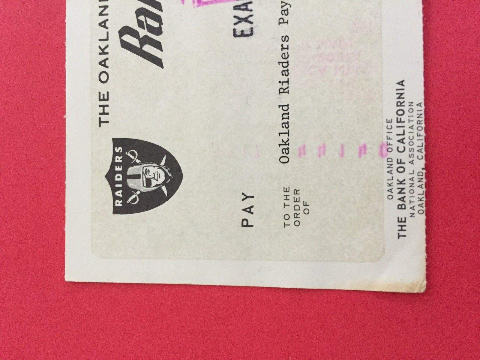 Al Davis Raiders Hof Check Autographed Signed JSA Authentic Memorabilia Certified Letter Loa