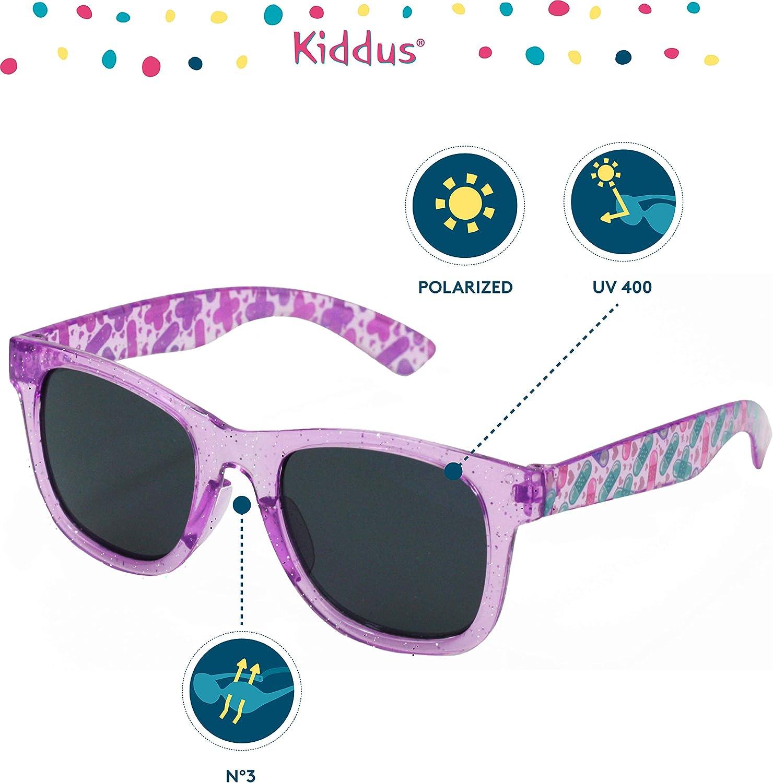 UV400 Protezione al 100/% dai raggi ultravioletti Resistente agli urti Sicuri Kiddus Ochiali da Sole POLARIZZATI per bambine bambini ragazzo ragazza Da 6 anni leggeri e confortevoli.