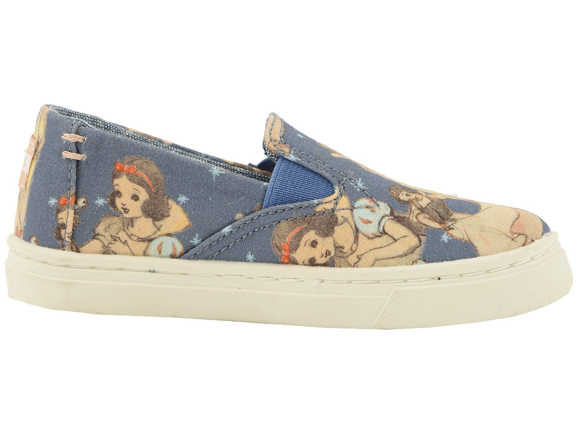 TOMS Girl's, Luca Slip on Shoes Blue 4 M by TOMS Kids (Image #8)