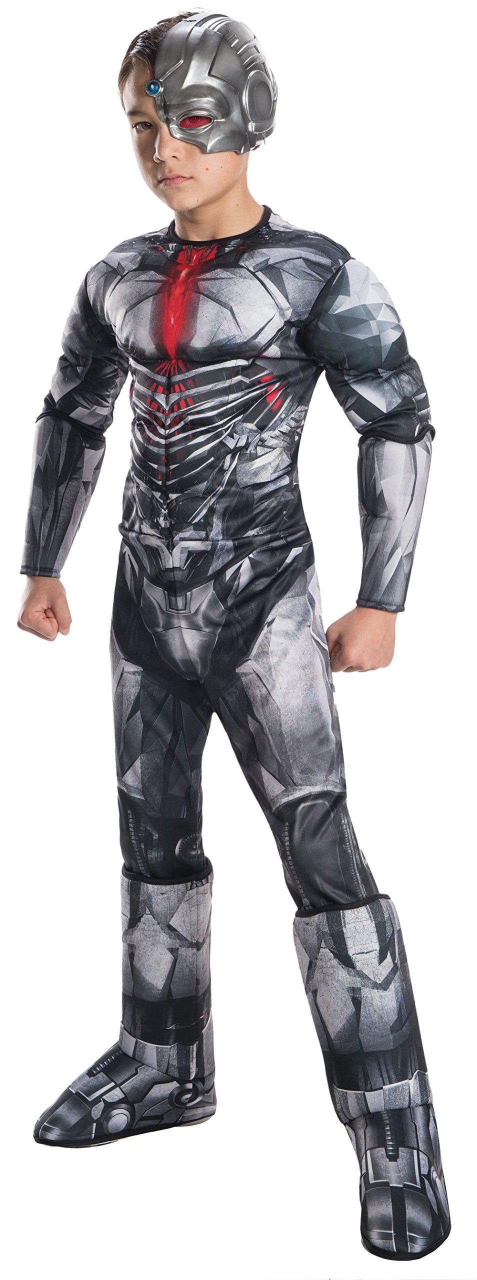 Rubie's Costume Boys Justice League Deluxe Cyborg Costume, Medium, Multicolor