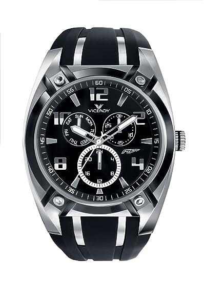 Viceroy 47555-15 - Reloj de caballero de cuarzo, correa de goma color negro