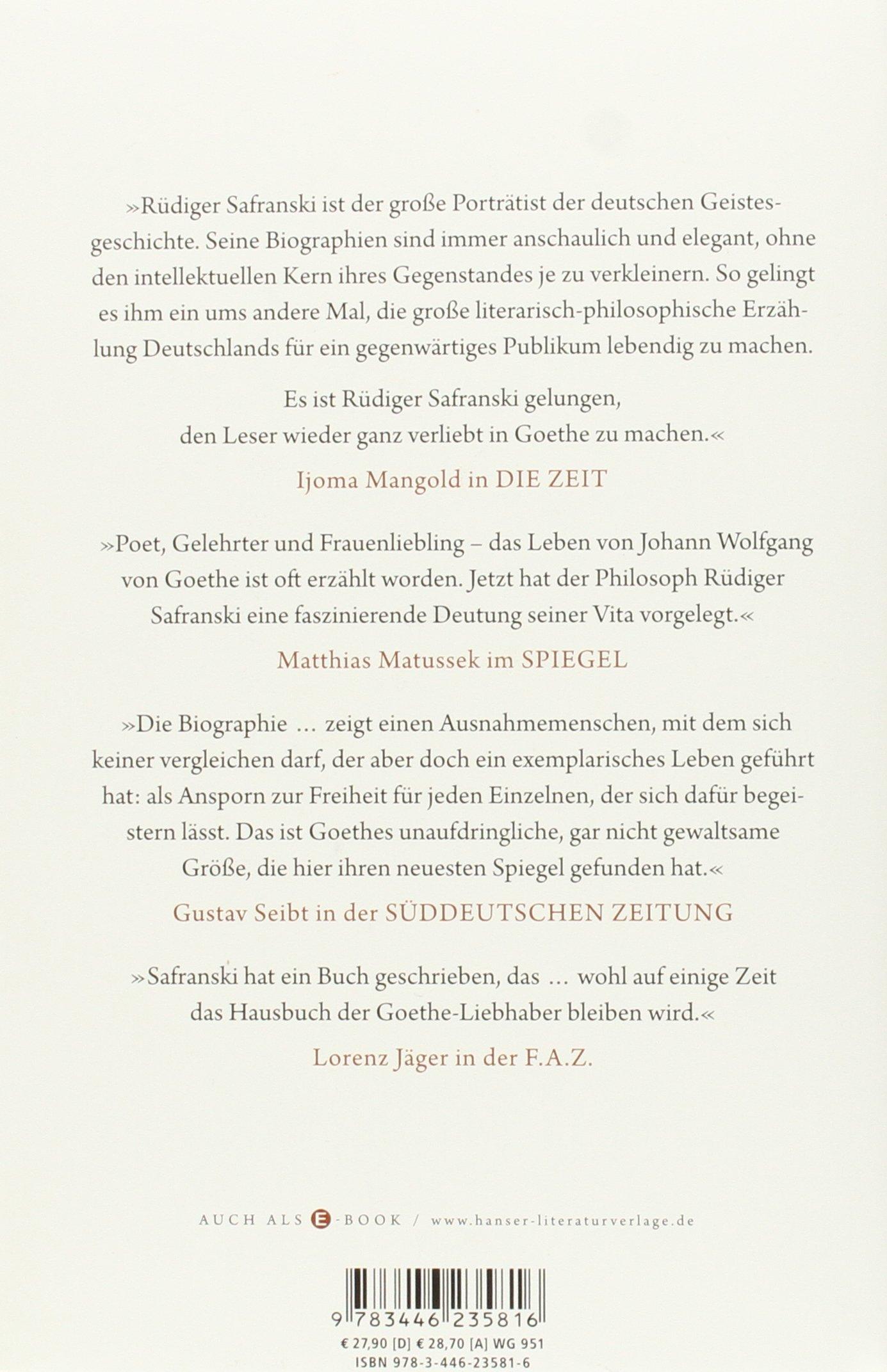 Goethe kunstwerk des lebens rdiger safranski goethe kunstwerk des lebens rdiger safranski books