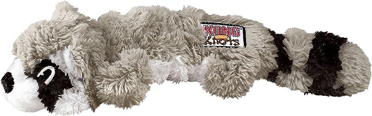 KONG Juguete hecho de nudos, masticable en forma de mapache para perro, pequeño/mediano