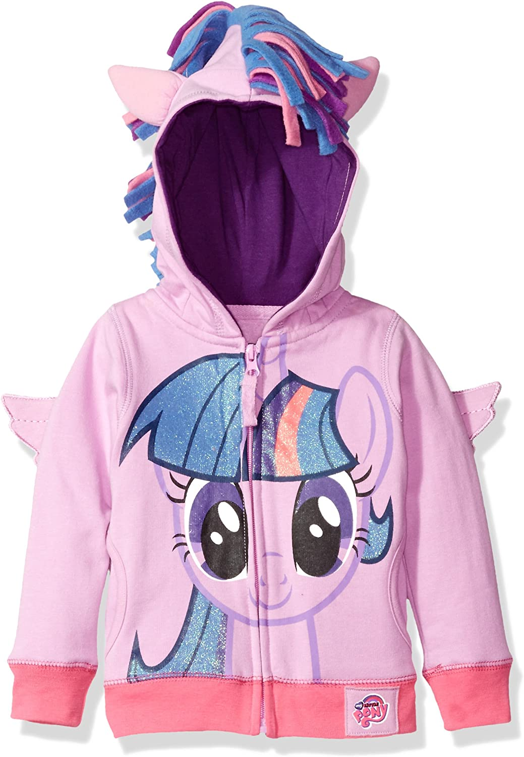 My Little Pony Toddler Girls Zip-up Hoodie: Clothing