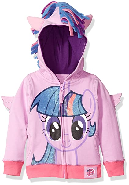 e3411fb24535c6 Amazon.com: My Little Pony Girls' Twilight Sparkle Hoodie: Clothing