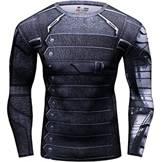 1a93aaed7ef8c8 Cody Lundin® Men s Compression Workout Top Winter Warrior Cosplay Long  Sleeve Sport Tight Shirt
