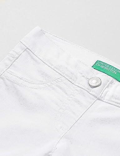 Taglia Produttore:M United Colors of Benetton 4U4057I20 Pantaloni Bianco 101 Bianco 128 Bambina