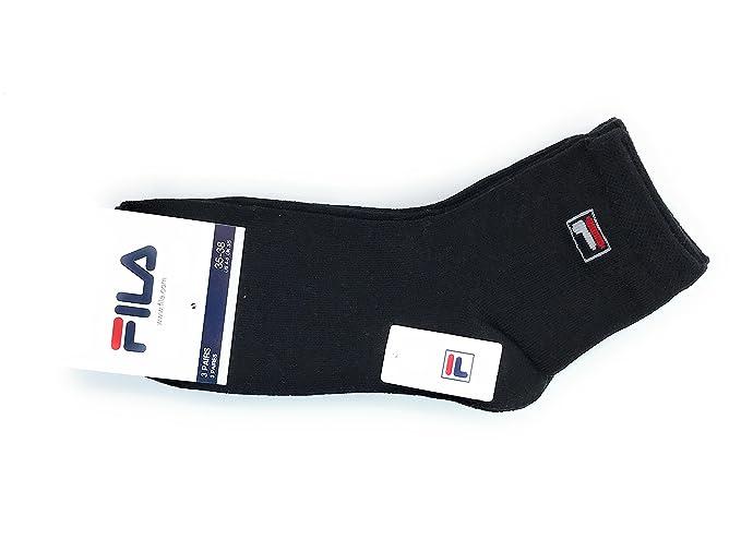 Fila - Calcetines cortos - para hombre negro 35-38