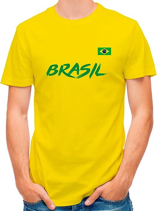 LolaPix Camiseta seleccion de Futbol Personalizada con Nombre y número. Camiseta de algodón para Hombre. Elige tu seleccion. Brasil: Amazon.es: Hogar
