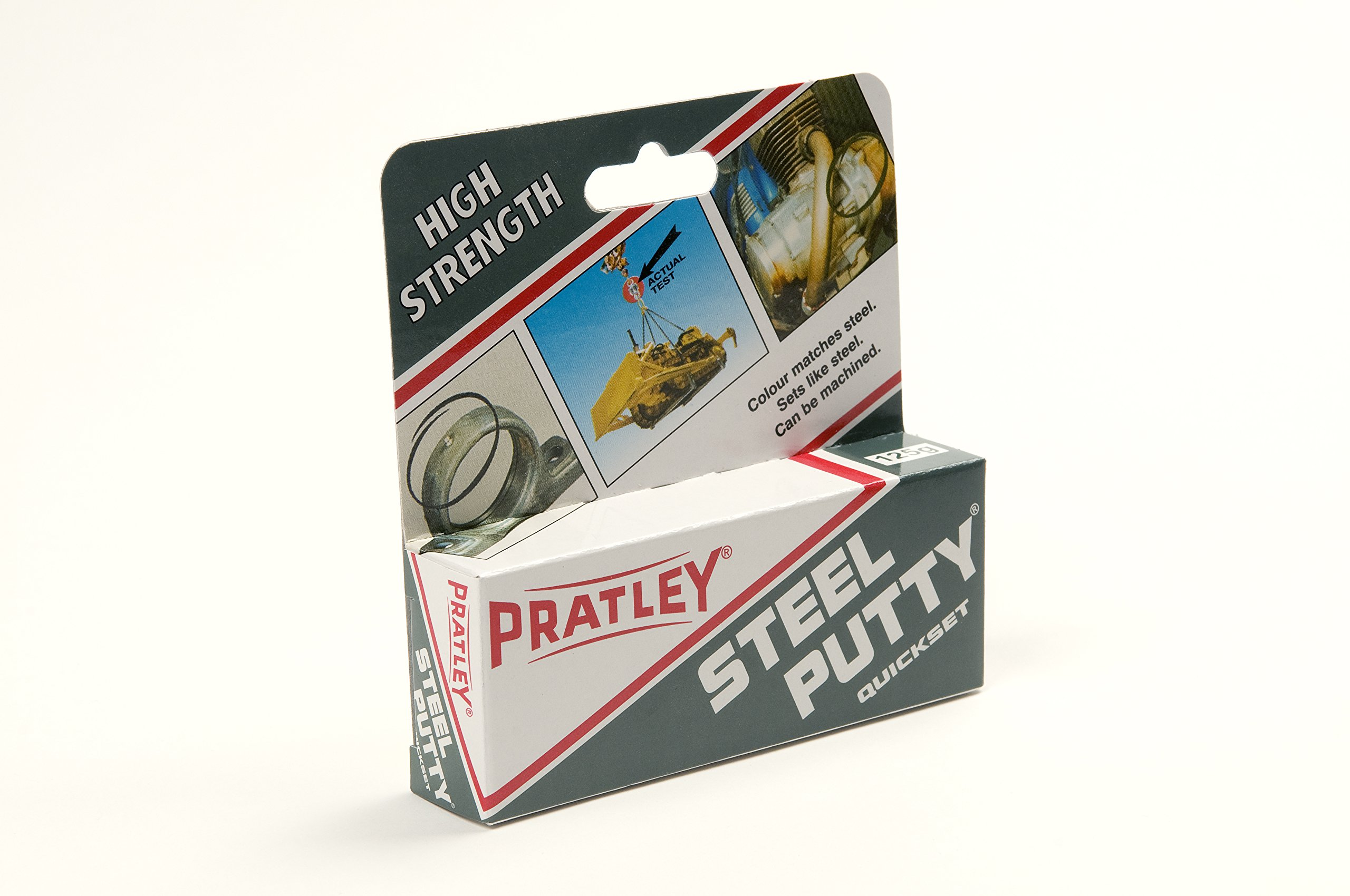 1 x Pratley Steel Metal Adhesive Epoxy Putty 125g / 4.4 ounces 84136 New
