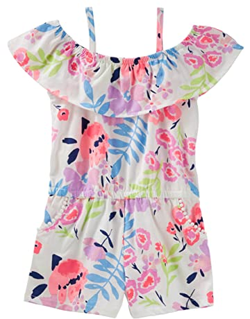 9fc9b003362 Osh Kosh Girls  Sleeveless Romper