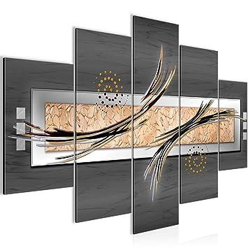 Bilder Abstrakt 5 teilig Wandbild 150 x 100 cm Vlies - Leinwand Bild ...