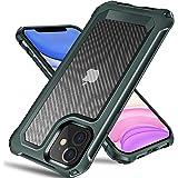 Tuerdan iPhone 11 Case, [Military Grade Shockproof] [Hard Carbon Fiber Back] [Soft TPU Bumper Frame] Anti-Scratch, Fingerprin