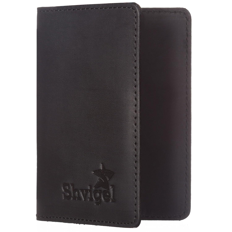 Amazon.com : Shvigel Business Card Holder Leather - Visiting Card ...