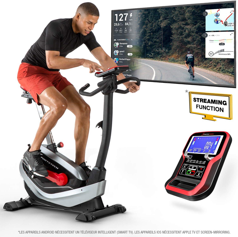 Sportstech ESX550 Diseño Premium 2020 Bicicleta Estática - Marca de Calidad Alemana - Eventos de Video y App Multijugador - Freno Magnético + Masa de Volante 21kg + Pulsómetro - Extra Silencioso: Amazon.es: Deportes y aire libre