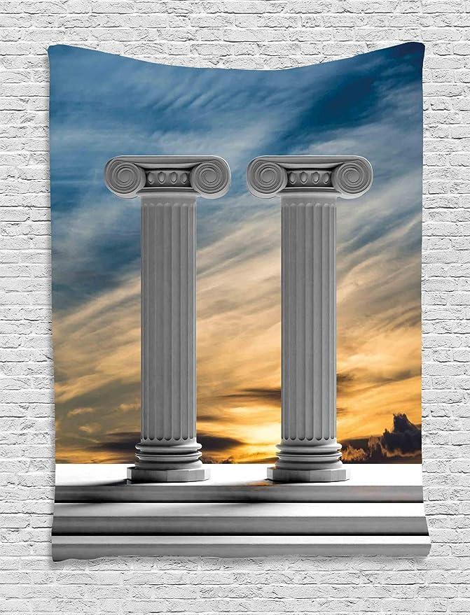 ABAKUHAUS Digital Tapiz de Pared, Columnas De Mármol Antiguas ...