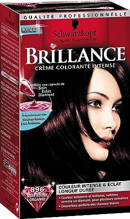 schwarzkopf brillance coloration permanente noir rouge organdi 896 - Coloration Violine Rouge