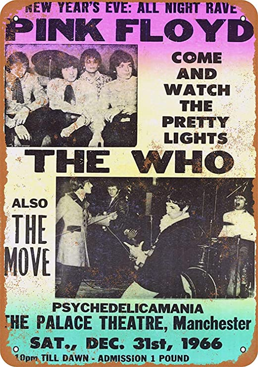 Pink Floyd The Who Manchester Póster De Pared Metal Retro ...