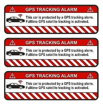 Finest-Folia 9 x GPS Bicicleta y Motocicleta Auto Alerta de Alarma Anti Robo Pegatinas Tracker gesichert: Amazon.es: Coche y moto