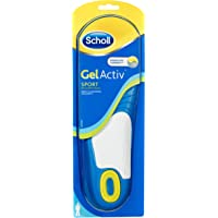 Scholl Men's Gel Activ Sport Insoles, UK Size 7 to 12