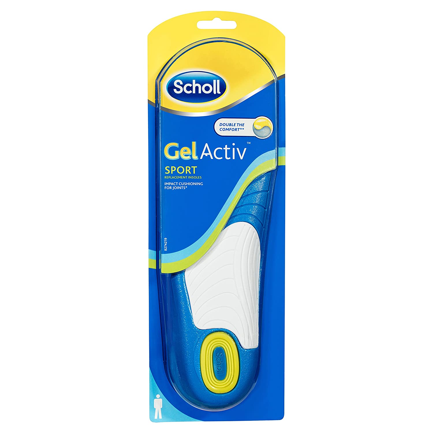 Folkekære Scholl Men's Gel Activ Sport Insoles, UK Size 7 to 12: Amazon.co XH-88