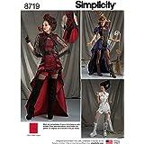 Simplicity 8719 - Patrones de costura para disfraz de steampunk gótico para mujer, tallas 6-14
