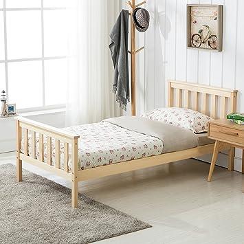 Astonishing Mecor 3Ft Double Bed In Natural Finished Wooden Frame Bedroom Furniture Home Interior And Landscaping Ponolsignezvosmurscom