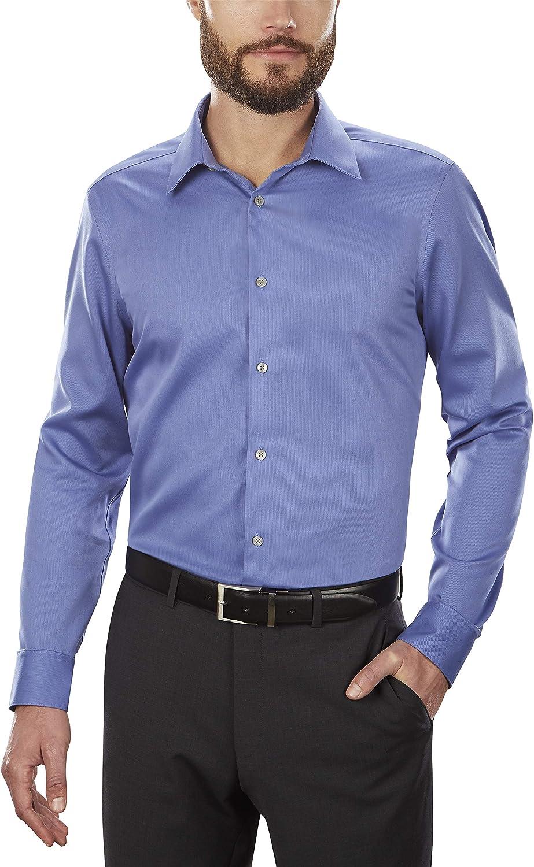 Calvin Klein Men's Slim Fit Non Iron Multi Stripe Viola