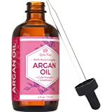 #1 TRUSTED Leven Rose Virgin Argan Oil - Pure Cold Pressed, 100% Organic for Hair Growth, Skin Serum, Face, Nails, Eczema, Acne - Best Moroccan Argan - 4 Oz