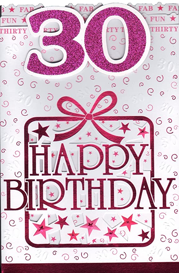 30th Tarjeta de cumpleaños - 30 de cumpleaños: Amazon.es ...