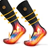 WISSBLUE Thick Heating Socks, Rechargeable Warm Socks, Used for Skiing, Outdoor, Winter