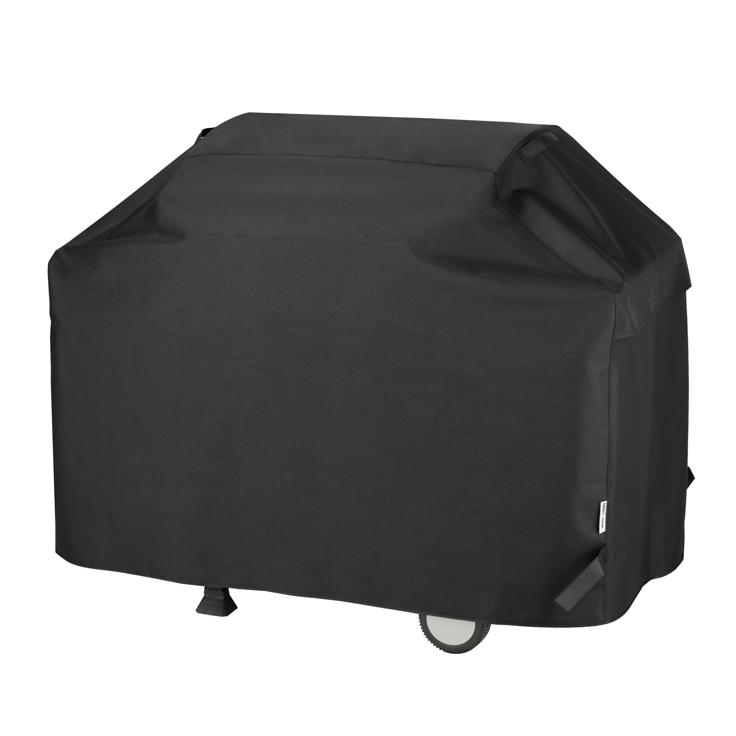 UNICOOK Heavy Duty Waterproof Barbecue Gas Grill Cover, 65-inch BBQ Cover, Special Fade and UV Resistant Material, Durable and Convenient, Fits Grills of Weber Char-Broil Nexgrill Brinkmann and More