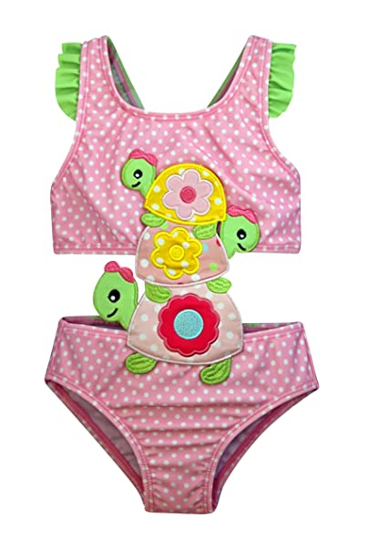 f4f178ab7a8 Amazon.com: Sol Swim Connector Swimsuit for Girls | Magical Unicorn | Three  Little Turtles: Clothing