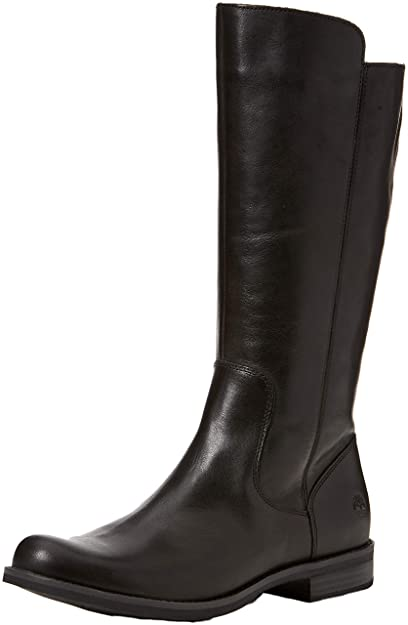 0a94a998d7c4b9 Timberland Women's Magby Tall Boot (Wide fit) Ankle (Black Full Grain),
