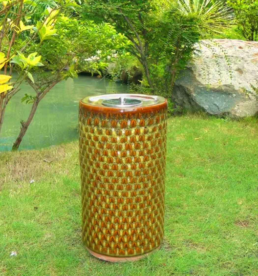 Outdoor Torch Heater, Aluminum/Glass Material, Ceramic Base, Ideal For Garden Decoration, Stylish And Modern Design, Resistant To Weather Conditions, Sturdy And Durable Construction & E-Book