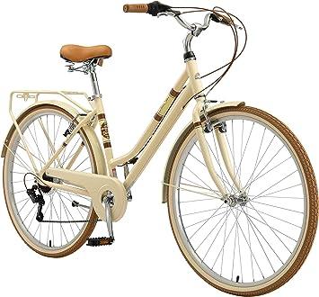 Bikestar Bicicleta De Paseo Aluminio Rueda De 26 28 Pulgadas Bici De Cuidad Urbana 7 Velocidades Vintage Para Mujeres Amazon Es Deportes Y Aire Libre