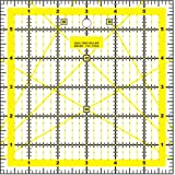 """Quilting Patchwork Ruler Craft Square Imperial - 6"""" x 6"""""""