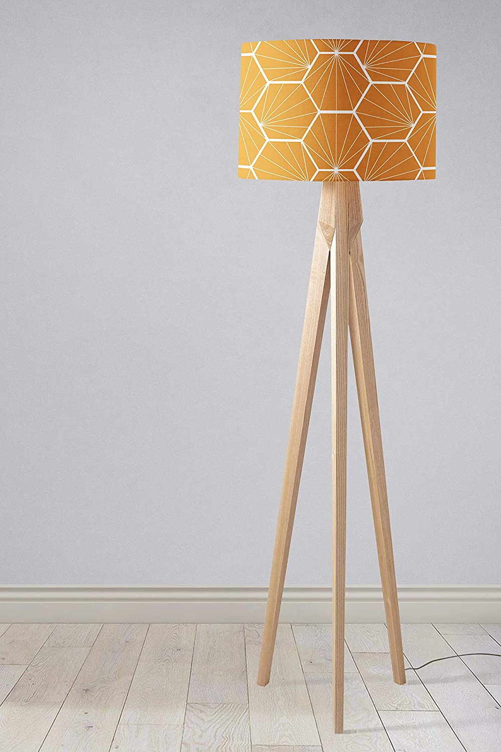 Butterscotch Yellow Lampshade Geometric Hexagon Ceiling light shade or Table lamp