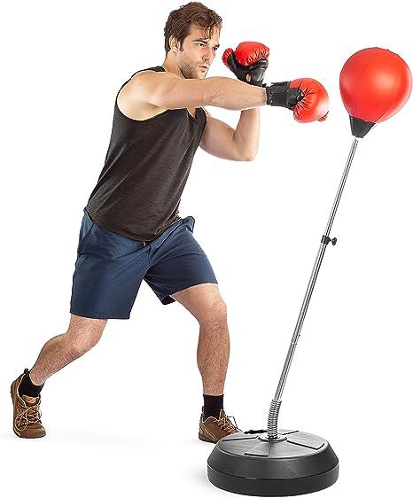 Adult Punching Bag Training MMA Taekwondo Workout Boxing Bag Standing Swivel BT