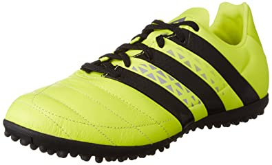 finest selection 6aea8 d2cfa Adidas Ace 16.3 TF Leather, Chaussures de Football Homme,  Multicolore-Multicolore (Syello
