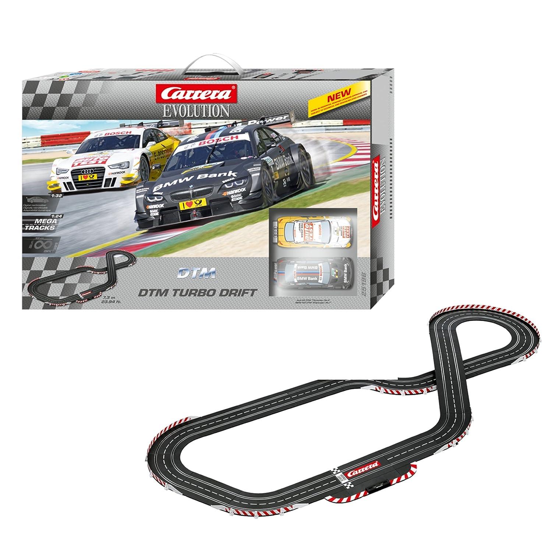 Carrera - Circuito Evolution DTM Turbo Drift, 7.3 metros (Audi A5 y BMW M3), escala 1:32 (20025196): Amazon.es: Juguetes y juegos
