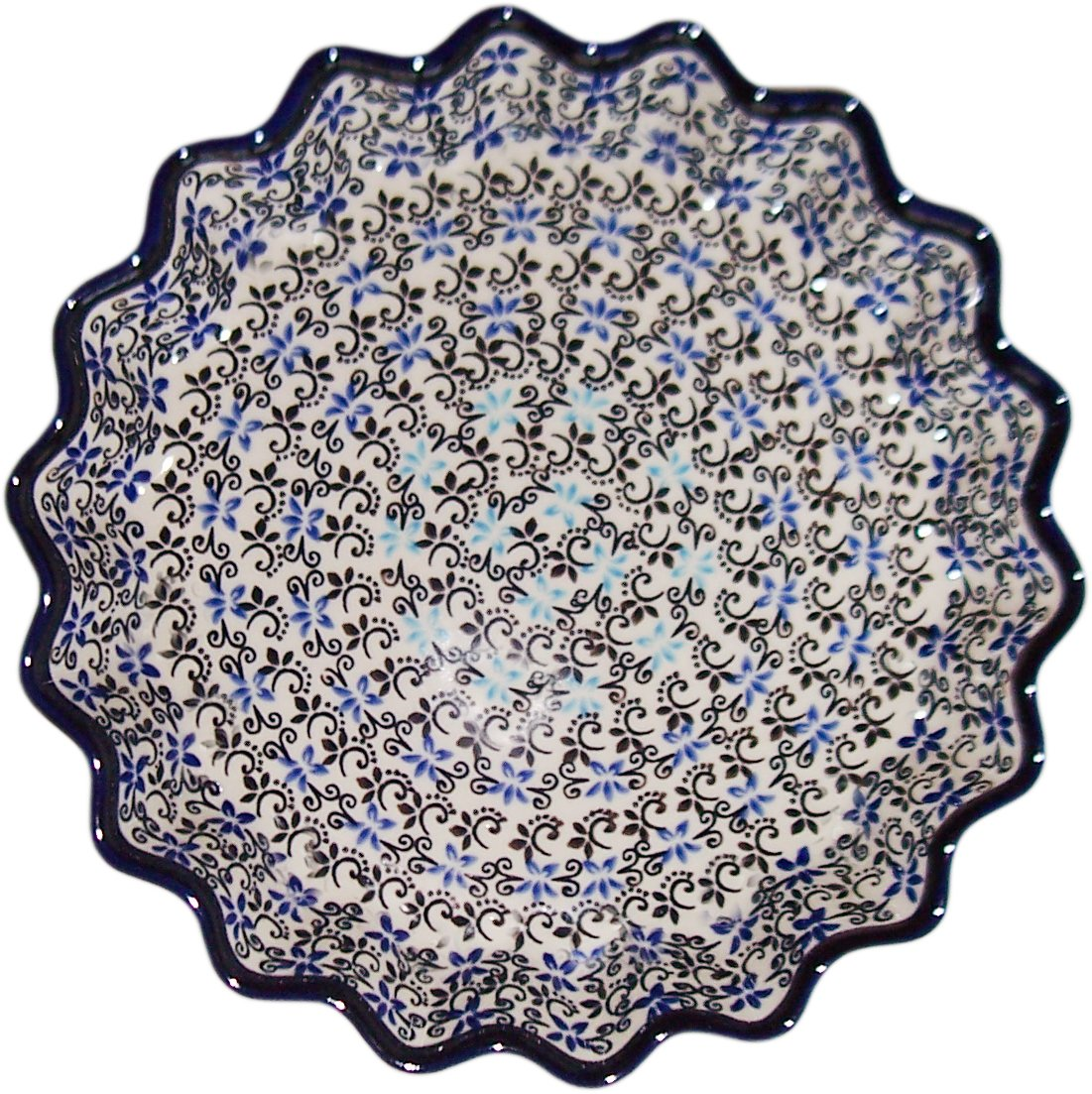 Boleslawiec Stoneware - Polish Pottery Pie Plate or Quiche Plate Eva's Collection Martina