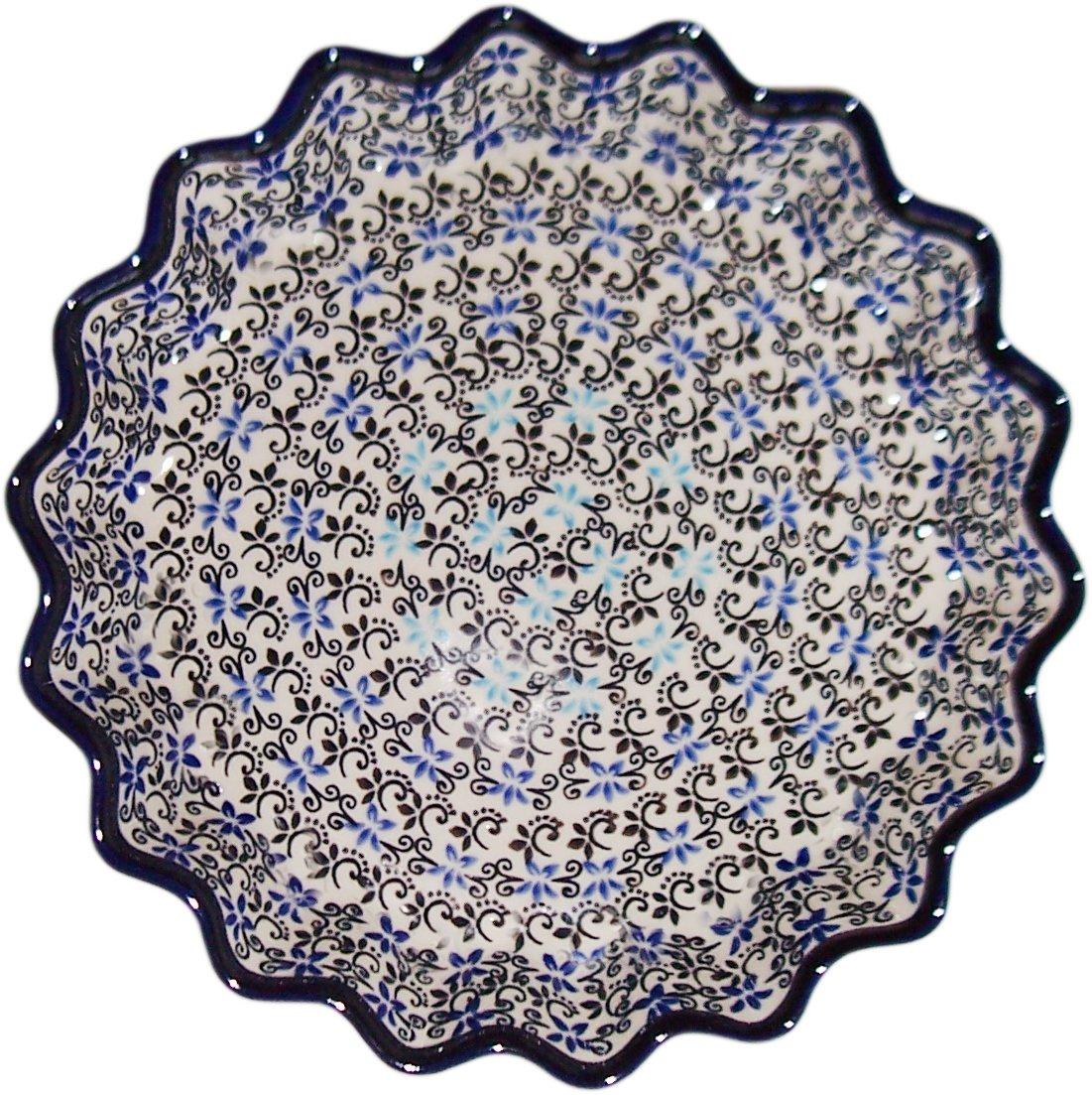 Polish Pottery Pie Plate or Quiche Plate ''Eva's Collection'' Martina