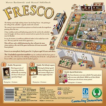 Queen Games - Fresco Expansion Modulo 7 (versión en alemán): Amazon.es: Juguetes y juegos